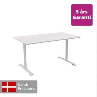 Billede af hæve-sænkebord hvidt med hvidt stel