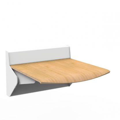 Klapsæde til væg, for nem siddemulighed og nemmere rengøring. Solidt og testet produkt.