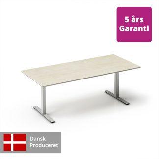 Billede af hæve-sænkebord bøg med hvidt stel