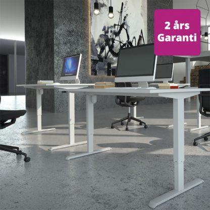Billede af billigt hæve sænkebord hvidt stel