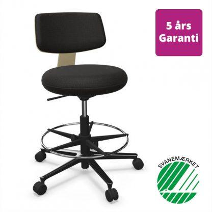 Billede af svanemærket kontorstol Savo 360 højstol med fod-ring